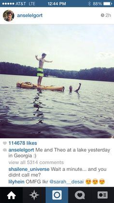 Ansel Elgort and Theo James <3