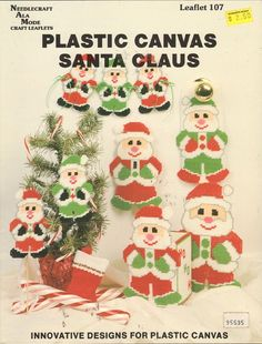 Santa Claus in Plastic Canvas Vintage Craft Book 1989