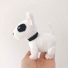 The Pug, Crochet Animals, Crochet Toys, Crochet Baby, Bull Terrier Puppy, Bull Terriers, Cocker Spaniel, Black Lab Puppies, Corgi Puppies