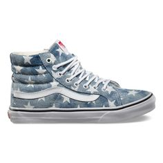 c561e9bfc3 Vans Washed Stars Sk8-Hi Slim - Stars and Stripes for the 4th of July