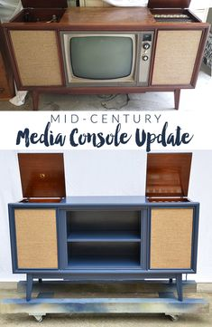 Vintage Media Console Update | http://heartsandsharts.com/vintage-media-console-update/