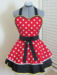 Sexy Minnie Mouse Heart Shaped Double Pin up by AquamarCouture, $49.99