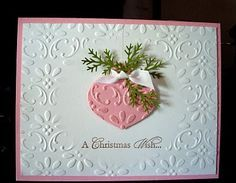 12/3/2011; Judy Marshall at 'Brown Paper Packages' blog using SU products for this lovely card; Finial Press EF & a punch ornament