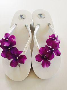 46b969f89d454b Bridal Flip Flops.Wedding Flip Flops.Platform by RocktheFlops Bridal Wedges