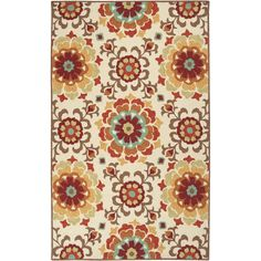 Hand hooked from 100% polypropylene this rug features a indoor / outdoor design with a medium pile. This area rug is available in vibrant color palettes.
