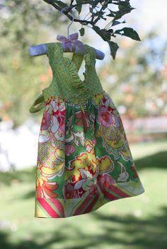 Reversible baby dress.