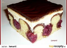 Donauwelle - super easy - i need more time for - Kuchen Make Ahead Desserts, No Bake Desserts, Dessert Recipes, Lemon Cheesecake Recipes, Easy No Bake Cheesecake, Sweets Cake, Cupcake Cakes, Cupcakes, German Baking