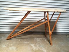 Vintage Primitive Wood Ironing Board Table