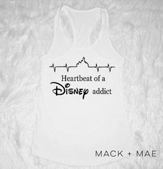 643c5951c Heart Beat of a Disney Addict Glitter Women's Tank Disney Vacation Mickey  Minnie Top Christmas Brunch