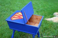 Superhero toy box DIY by Ace Blogger, @nestforless