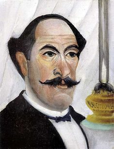 Henri Rousseau - Self-portrait of the Artist with a Lamp