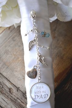 Wedding Bouquet Charm Something Blue By PetalWhispers