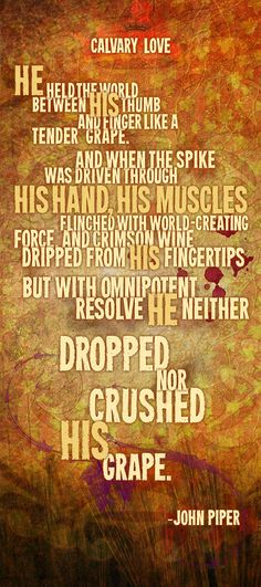 "John Piper's latest poem, ""Calvary Love"" (design by Timofey Lychik)."
