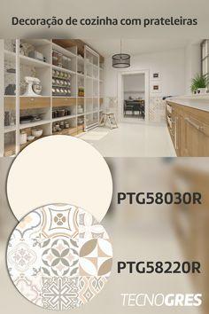Organização, praticidade, beleza e funcionalidade são os verdadeiros sinônimos dessa cozinha! Aposte na combinação de prateleiras e porcelanatos Tecnogres e arrase em sua composição! #cozinha #prateleiras #divisorias #armariocustomizado #despensa #inspiracao #decoracao #porcelanato #tecnogres #grupofragnani Beauty, Butler Pantry