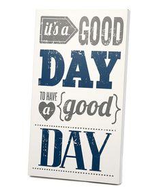 Yes! :: Gray & Navy 'Good Day' Wall Art
