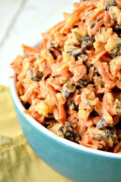 This is a yummy Carrot Salad that my family just can't get enough of! It's loaded with pineapple, raisins and pecans. It's really a snap to prepare and it goes great with just about everything. We've been barbecuing a lot and everyone has been asking for me to make this to have as one of  …  Continue reading →