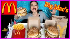 MCDONALDS BIG MAC + BIG MAC + FRIES 😍 MUKBANG 😍 Eating Show