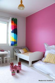 Pink wall, Marimekko textiles