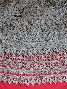 Crochet silk skirt