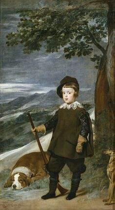 Diego Velázquez (1599-1660) Prince Baltasar Carlos as a Hunter  1635-1636. Oil on canvas. 191 x 103 cm. Museo Nacional del Prado, Madrid. P01189.
