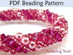 Russian Spiral Stitch Beading Pattern - Jewelry Making Daily.  MUST LEARN!!