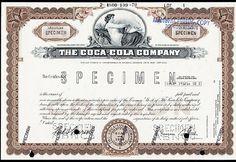 64: Coca-Cola Company Stock Certificate Rare Color Vari : Lot 64