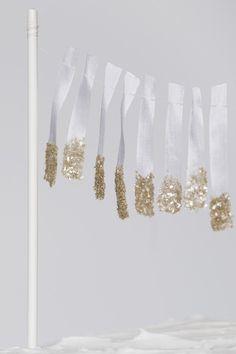 glittered ribbon garland, times a zillion!