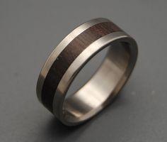 Super Love - Wooden Wedding Rings. $220.00, via Etsy.
