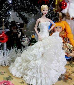 new wedding dress for Fashion royalty , silkstone by t.d.fashion #FashionRoyalty