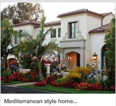 Mediterranean Style Home with fantastic curb appeal