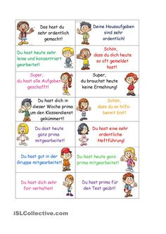 Lobkarten - Praise cards more Best Picture For school library For Your Taste You are looking for something, a - I School, School Classroom, Middle School, Deutsch Language, Classroom Management Plan, German Grammar, German Language Learning, Learn German, Learning Numbers