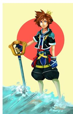 Sora iPhone Case Inspired by Kingdom Hearts
