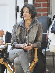 Jaimie Alexander Films 'Blindspot' in NYC -  Actress Jaimie Alexander films scenes for the TV series 'Blindspot' in New York City, New York on July 17, 2015. The show tells the story of a Jane Doe who is found in Times Square with no memory and mysterious tattoos on her body.