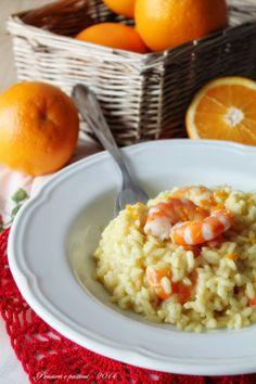 pensieri e pasticci: Risotto alle mazzancolle profumato all'arancia