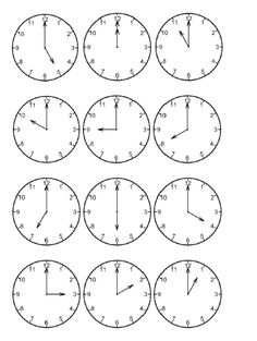 Classroom Freebies: Time by the Hour
