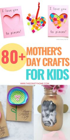 These Mother's day crafts for kids make perfect gifts for mother's day! There is a range of fun easy Mother's day crafts for toddlers and older children for everyone to enjoy! ideas father Mothers Day Crafts for Kids 2019 Easy Mothers Day Crafts For Toddlers, Easy Mother's Day Crafts, Diy Mothers Day Gifts, Crafts For Kids To Make, Mothers Day Cards, Diy Crafts For Kids, Mother Day Gifts, Diy Gifts, Gifts For Kids