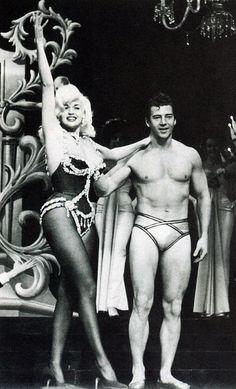 Jayne Mansfield & Mickey Hargitay in House of Love, their 1961 Las Vegas show in the Arabian Room at the Dunes.
