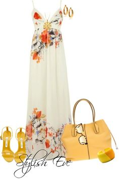 For that soft look that is totally feminine and delicate, maxi dresses are always the first option. Cute Fashion, Look Fashion, Womens Fashion, Pretty Outfits, Cool Outfits, Casual Outfits, Spring Summer Fashion, Spring Outfits, Mode Collage