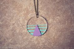Neon Pastel Geometric Necklace. I NEED THIS! and its a one of a kind loooove