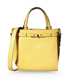 Valextra B-Cube Yellow Leather Tote - See what else is on The Coveteur's spring wish list http://shop.harpersbazaar.com/trends/the-coveteur-shopbazaar