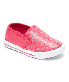 Loving this Chatties Fuchsia Glitter Slip-On Sneaker on #zulily! #zulilyfinds