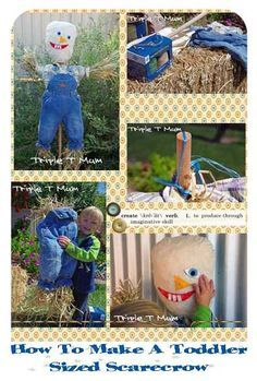 {Triple T Mum} How to make a toddler-sized scarecrow