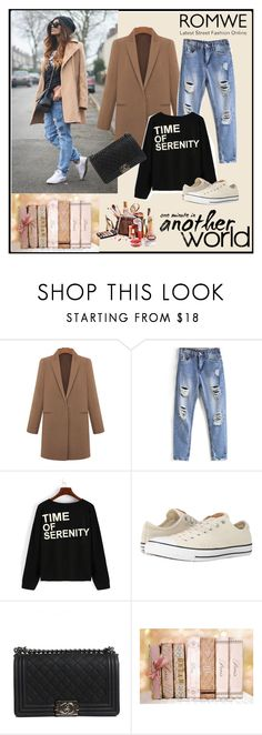 """Romwe 6/VIII"" by merima-p ❤ liked on Polyvore featuring Converse, Chanel, women's clothing, women's fashion, women, female, woman, misses and juniors"