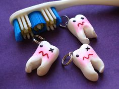 Cute Impacted Wisdom Tooth Charm by Gearbunny on Etsy, $6.50