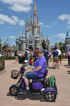 """When you want MORE than the average """"granny"""" style mobility scooter Granny Style, Scooters, Baby Strollers, Disney, Baby Prams, Motor Scooters, Strollers, Vespas, Stroller Storage"""