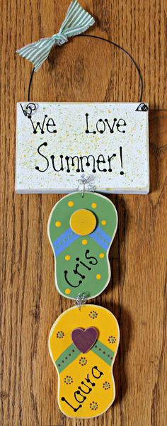 Wooden Personalized Flip Flop Summer Sign by lauraswoodshed, $12.00