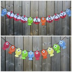 IT'S A BOY Gone Fishing Theme Banner Fish by lilcraftychickadee Baby Shower Decorations For Boys, Boy Baby Shower Themes, Baby Shower Gender Reveal, Baby Shower Games, Baby Shower Parties, Baby Boy Shower, Diaper Shower, Baby Gender, Fish Banner