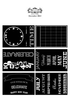Free December download. Great stamping ideas for journals, planners and diaries for 2013. Happy New Year!
