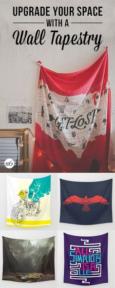 Hanging up a wall tapestry is an easy way to add character and beauty to your dorm room.