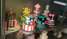 Lots of tiered cakes